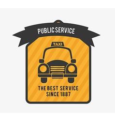 taxi service vector image