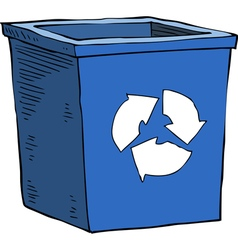 Box recycling garbage vector