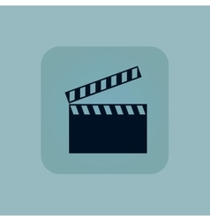 Pale blue clapperboard icon vector