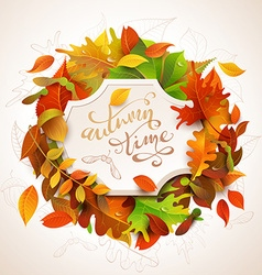 Autumn time background vector
