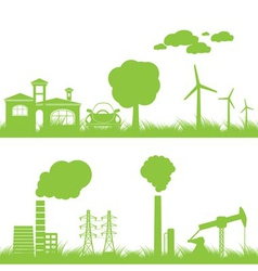 Abstract ecology and industry background vector