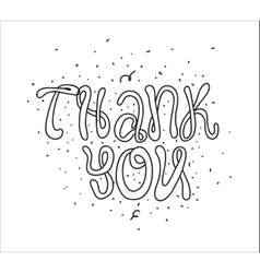 Thank you greeting card with calligraphy hand vector
