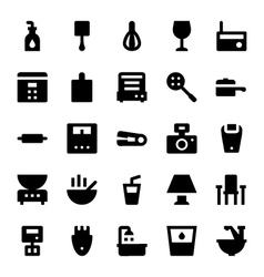 Home appliances icons 8 vector