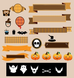 Halloween decoration ribbons vector