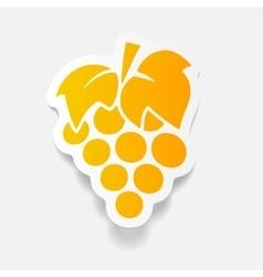 realistic design element grapes vector image