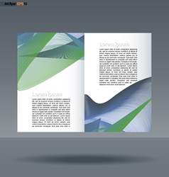 Abstract print a4 design with colored lines vector