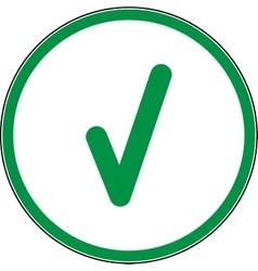 Tick green sign in green circle vector