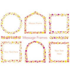 a set of mosaic and dot frame vector image vector image