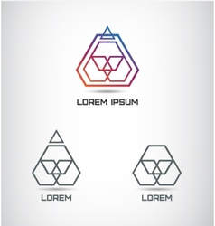 abstract geometric polygon logo vector image