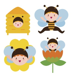 Bee babies vector