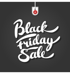 Black friday brush lettering on background with vector