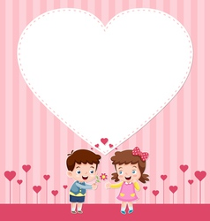 Boy and girl card vector image vector image