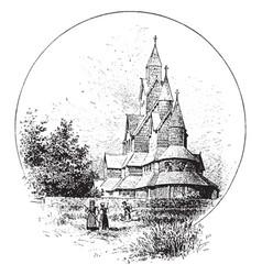 Church vintage vector
