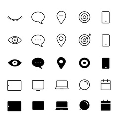 Different style trendy interface icons set vector image vector image