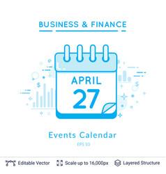 Events calendar symbol on white vector