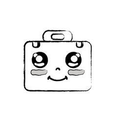 Figure kawaii cute happy briefcase and medical kit vector