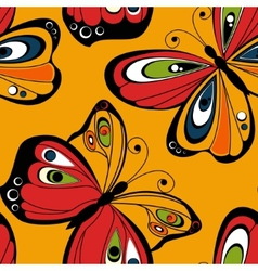 Flying butterfly seamless pattern Spring vector image