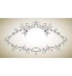 Frame with floral elements for registration 8 vector