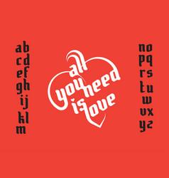 heart shape lettering vector image