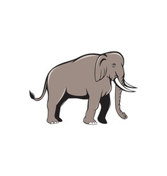 Indian elephant side view cartoon vector