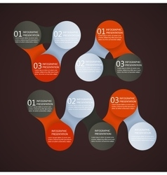 infographics metaball round diagram vector image