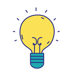 Light bulb idea to creative invention vector