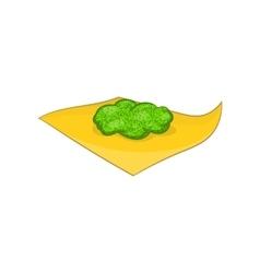 Marijuana on a paper icon cartoon style vector image