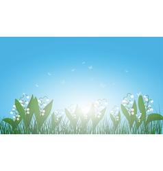 Meadow color background vector