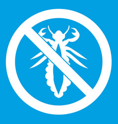 no louse sign icon white vector image vector image