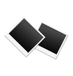 photo frame in black and white colors vector image