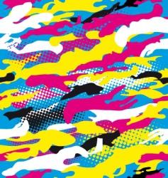 Pop art camouflage vector