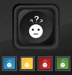 Question mark and man incomprehension icon symbol vector