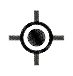 Rifle sight isolated icon vector