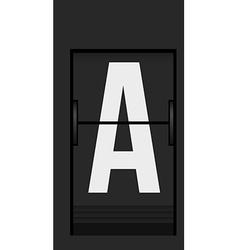 Split flap mechanical board detail vector image vector image