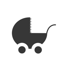 stroller baby shower childhood icon vector image