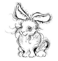 stylized rabbit vector image vector image