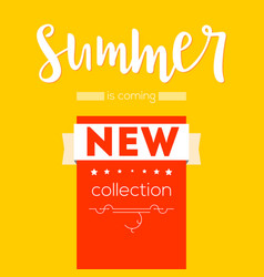Summer new collection advertising banner text vector