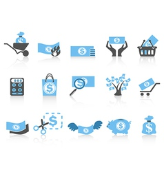 simple money iconblue series vector image