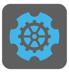 Gearwheel rounded square icon vector