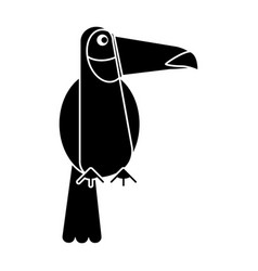 Toucan bird exotic fauna pictogram vector