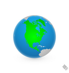 Continent north america vector