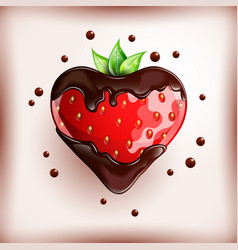fresh strawberry on colorful background vector image
