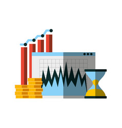 Invest money and business design vector