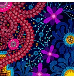 Amazing colorful background with flowers vector