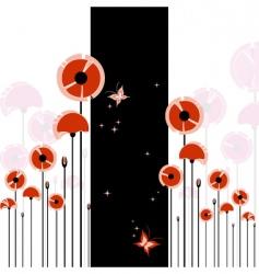 Poppy background vector