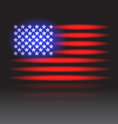 Usa flag neon vector