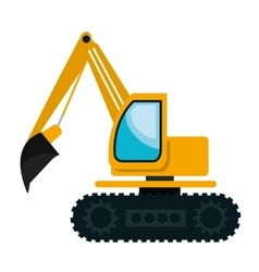 Construction vehicle machinary graphic design vector