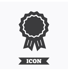 Award medal icon best guarantee symbol vector