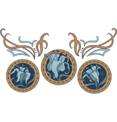 Art nouveau style ornament vector