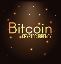 Bitcoin cryptocurrency text vector
